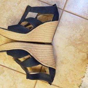 d5d4daf6dd2 MICHAEL Michael Kors Shoes - Berkley Weave Canvas Espadrille Wedges